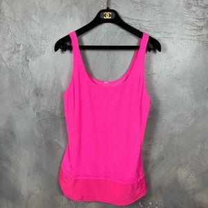 Lululemon hot pink singlet sleeveless tank top
